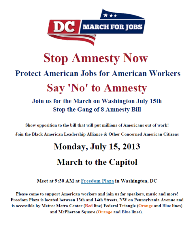 Stop Amnesty now